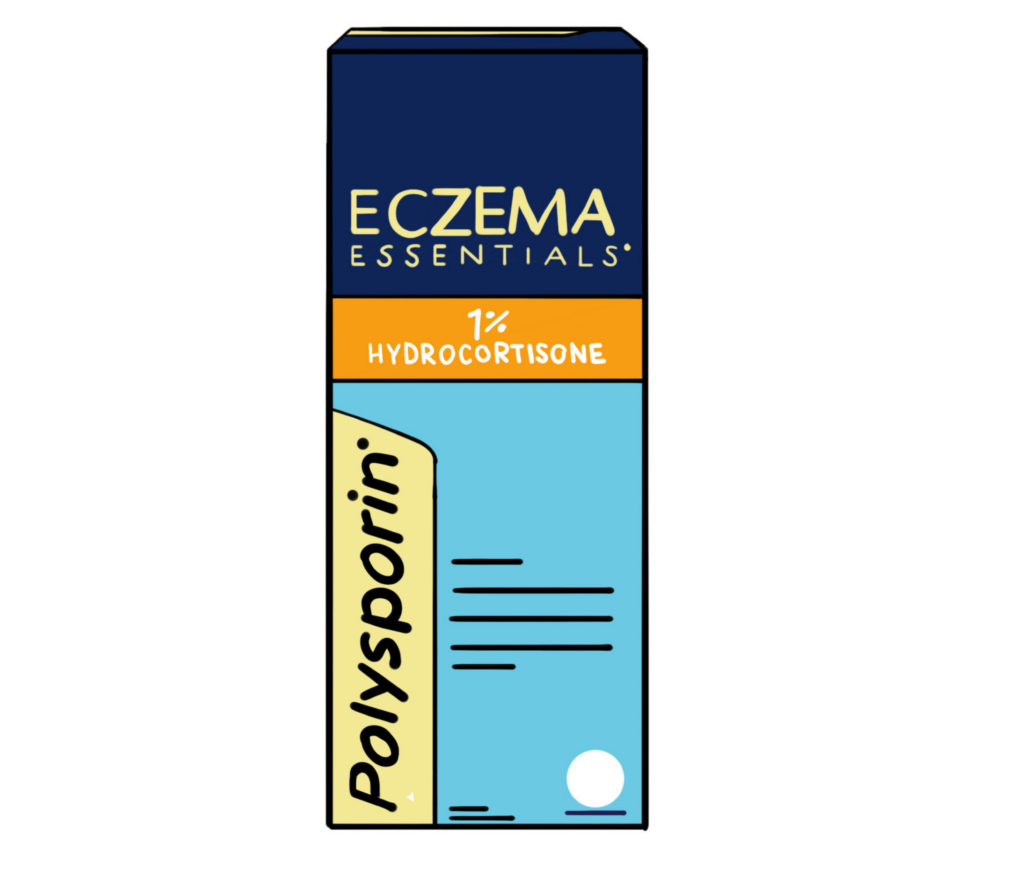 Polysporin Eczema Essentials 1% Hydrocortisone cream available over the counter