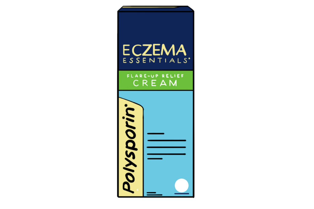 Illustration of Polysporin Eczema Essentials Flare up Relief Cream