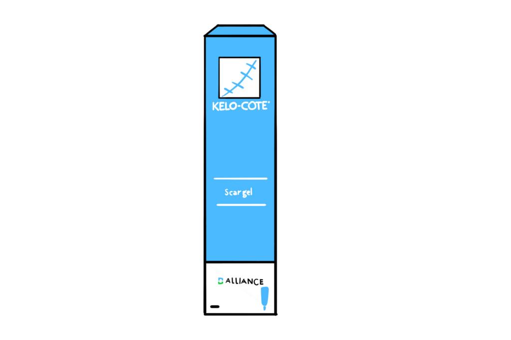 Illustration of Kelo-Cote Scar Gel