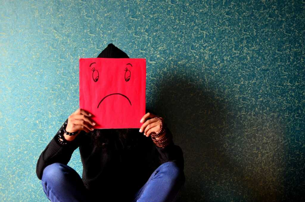 Someone feeling down or depressed. A common cause can be seasonal affective disorder.